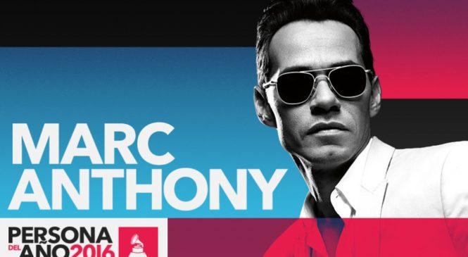 Marc Anthony recibirá galardón, este Jueves en los Latin Grammy